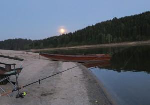 Mondaufgang am See
