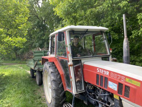 Ohne Traktor gehts nimmer....